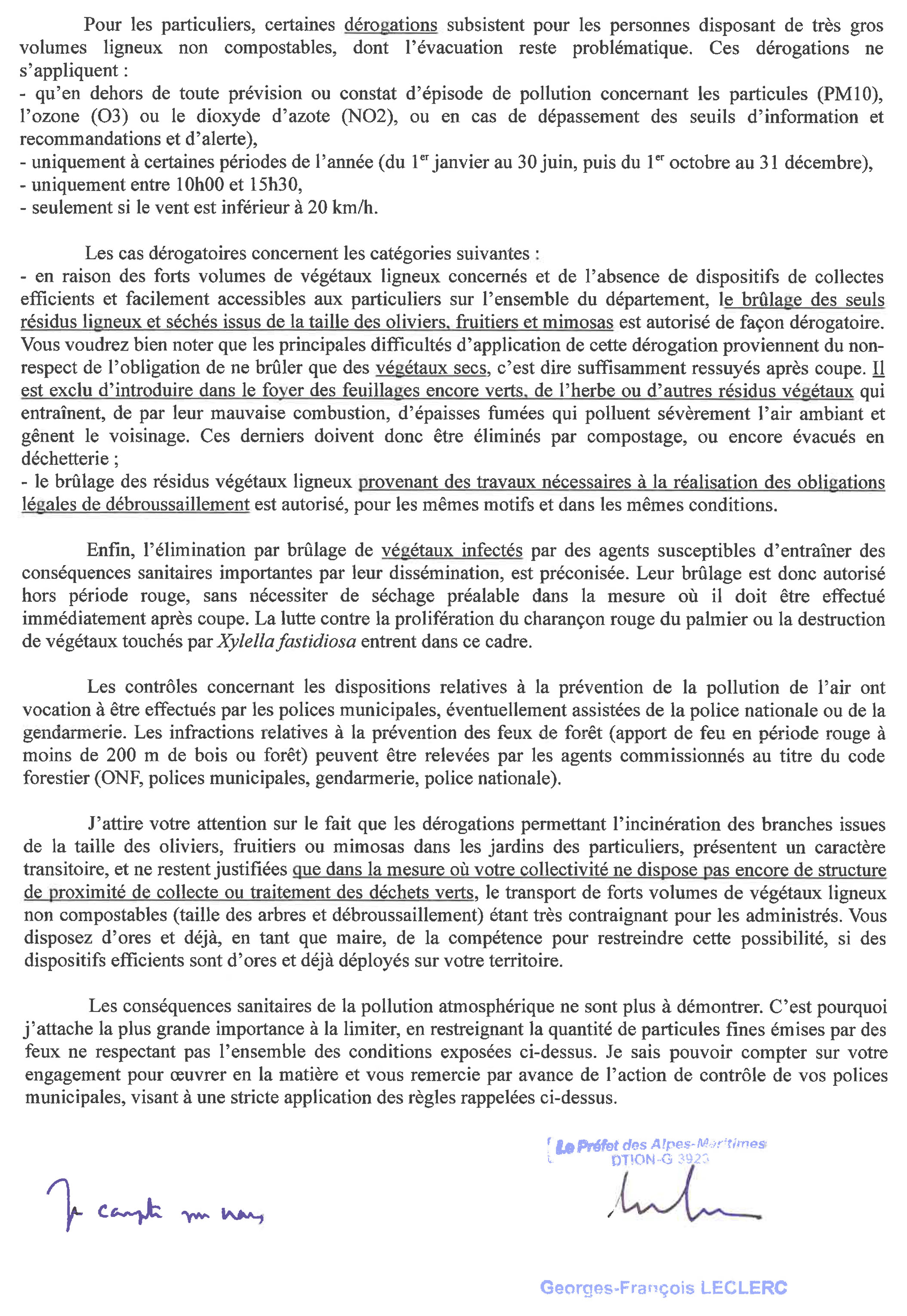 20181123 Application de la reglementation relative au brulage a l air libre des vegetaux 2