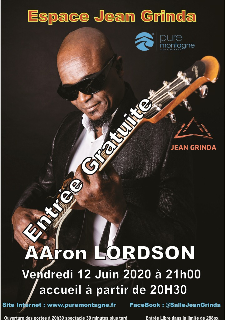 "Concert ""Aaron Lordson"" - ANNULE !"